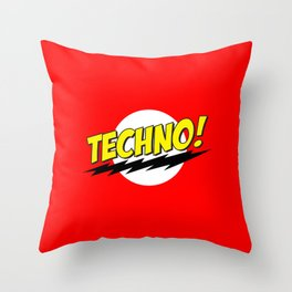 Techno Bazinga Throw Pillow