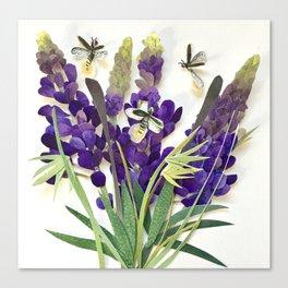 Light Bug Lavender Canvas Print