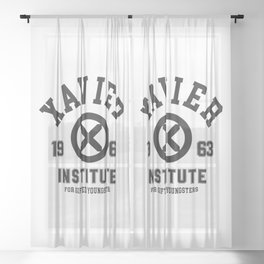 Xavier Institute Sheer Curtain
