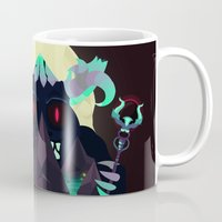 titan Mugs featuring Moonlit Titan by badOdds