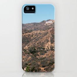 Hollywood sign in Los Angeles, California | USA travel photography art print poster iPhone Case