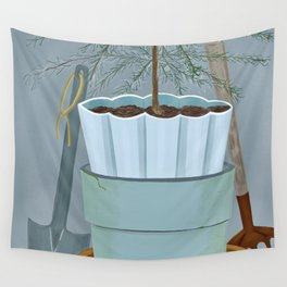Stacked pots Wall Tapestry