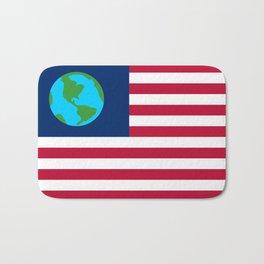 Old Freebie - Earth's Flag Bath Mat