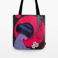 blossom Tote Bags featuring Blossom by Musya