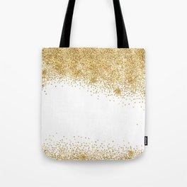 Sparkling golden glitter confetti effect Tote Bag