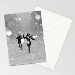 Snow in winter Stationery Cards