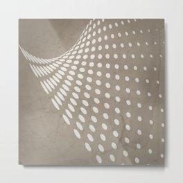 Halftone Flowing Swerve in Taupe Metal Print