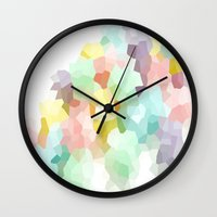 pastel Wall Clocks featuring Pastel  by 2sweet4words Designs