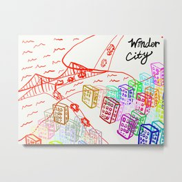 Wonder City Metal Print