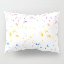 Dandelion Seeds Pansexual Pride (white background) Pillow Sham