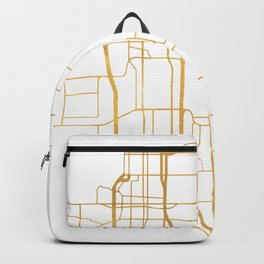 ANCHORAGE ALASKA CITY STREET MAP ART Backpack