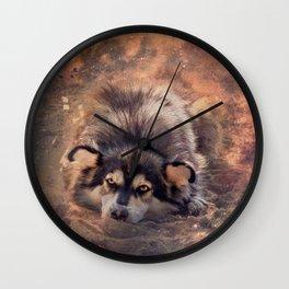 Bright-eyed dreamer Wall Clock