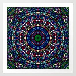 Colorful Church Window Mandala Art Print