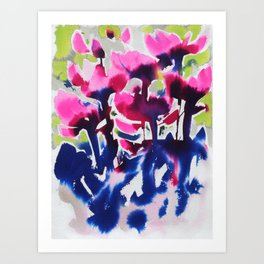 Botanika - Abstract Floral Watercolor Art Print