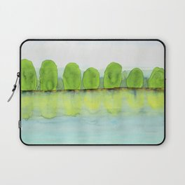 Trees Refecting On The Water Laptop Sleeve