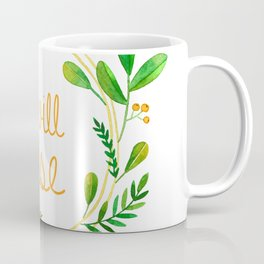 I will rise / Greenery wreath Coffee Mug