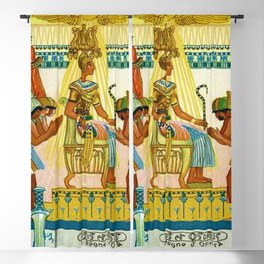 Vintage 1933 Belgian Egyptian Motif Isis Osiris Liebig's Beef Extract Lithograph Advertisement Poste Blackout Curtain