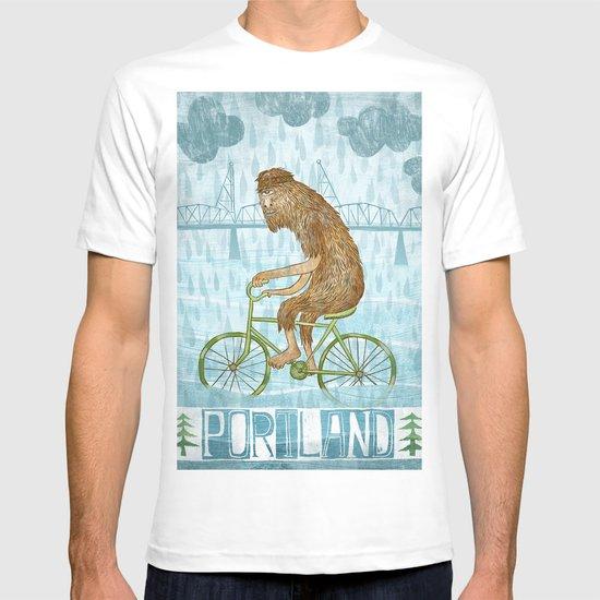 Dirty Wet Bigfoot Hipster T-shirt