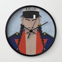 john snow Wall Clocks featuring John by B_U_R_T
