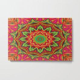 embroidered kaleidoscope 3D Metal Print