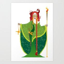 St. Brigid of Ireland Art Print