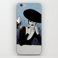 butterfly and woman iPhone & iPod Skin