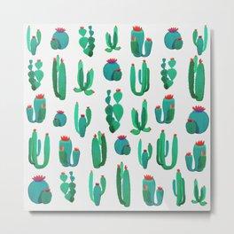New Cactus Pattern Metal Print