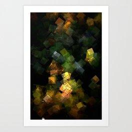 square fantasy autumn colors Art Print