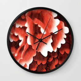 Wet Peonies Wall Clock