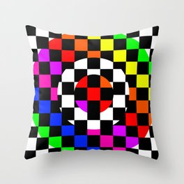 Triggle | Colorful Secret Geomoetry | Play Throw Pillow