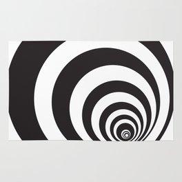 Black&White Spirally Rug