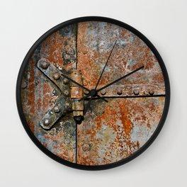 Rusty metal door details Wall Clock