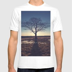 Backlit in Moonlight Mens Fitted Tee White MEDIUM