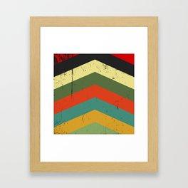 Grunge chevron Framed Art Print