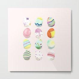 Painted Easter Eggs Metal Print