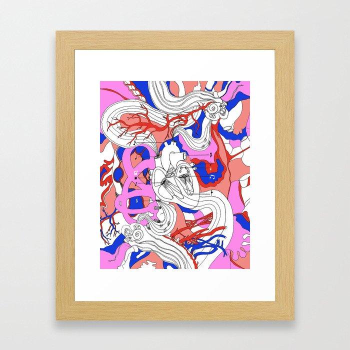Musical Heart Framed Art Print