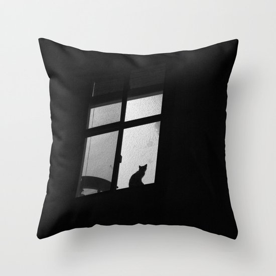 night window Throw Pillow