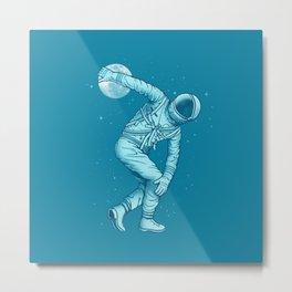 Bowling astronauts Metal Print