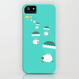 Sheepy clouds iPhone Case