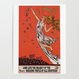 Russian May Day celebration poster in English Poster