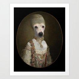 "Marie ""Chien""toinette Art Print"