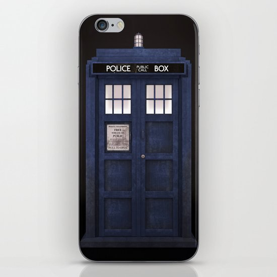 Tardis front iPhone Skin