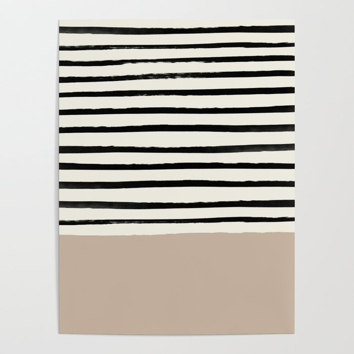 Latte & Stripes Poster
