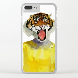 Tiger Lady Clear iPhone Case