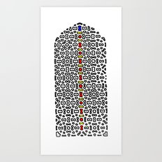 Mughal Window in color Art Print