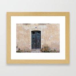 Old fashioned door Framed Art Print