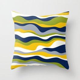 Cordillera Stripe: Yellow Navy Combo Throw Pillow
