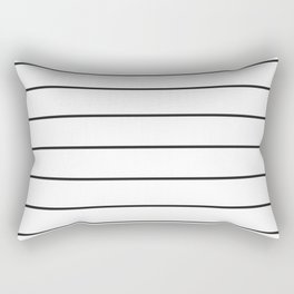 SKINNY STRIPE ((black on white)) Rectangular Pillow