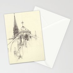 Notre Dame Cathedral Sketch Stationery Cards