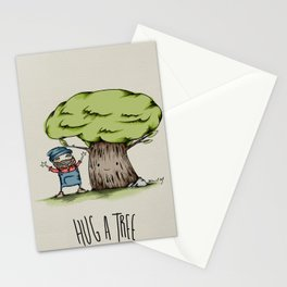 Hug a tree Stationery Cards
